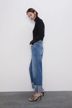 Zara Damen Jeans - Jeans z1975 mit saumaufschlag