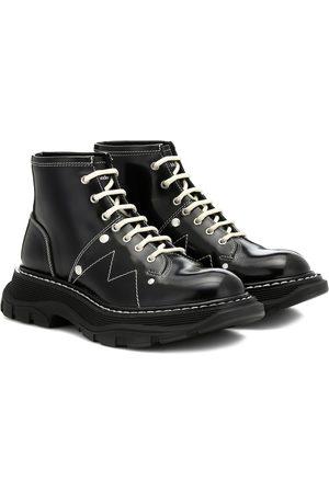 Alexander McQueen Ankle Boots aus Leder