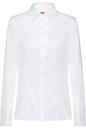 HUGO BOSS Damen Blusen - Slim-Fit Bluse aus bügelleichter Popeline