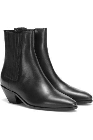 Saint Laurent Ankle Boots West 45 aus Leder