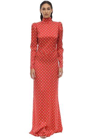 Alessandra Rich Langes Kleid Aus Satin