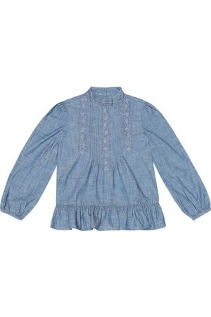 Ralph Lauren Mädchen Poloshirts - Bluse aus Chambray