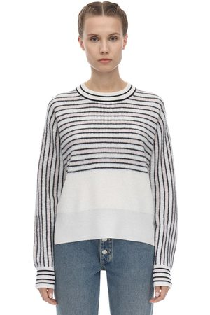 Sportmax Striped Cashmere Knit Sweater