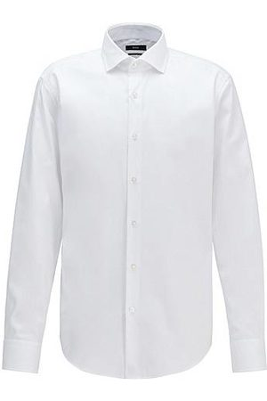 HUGO BOSS Regular-Fit Hemd aus Baumwoll-Twill