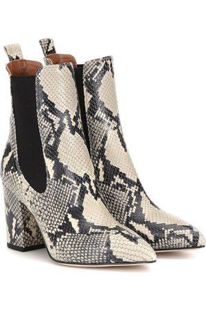 PARIS TEXAS Ankle Boots aus geprägtem Leder