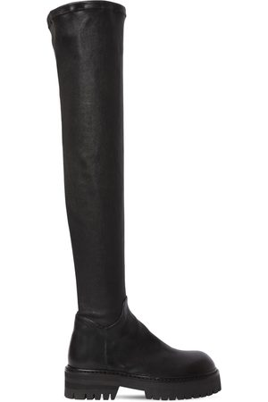 ANN DEMEULEMEESTER 40mm Overknee-stiefel Aus Stretch-leder