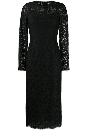Dolce & Gabbana Damen Cocktail & Partykleider - Floral lace midi dress
