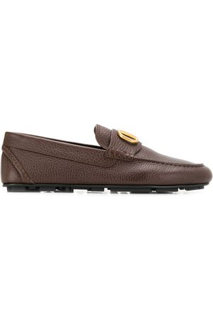 VALENTINO Logo plaque loafers