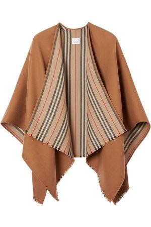 Burberry Damen Jacken - Icon stripe detail wool cape