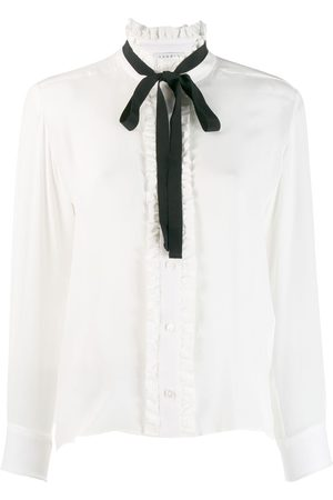 Sandro Long-sleeved bow blouse