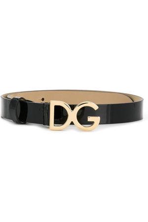 Dolce & Gabbana DG-buckle patent leather belt