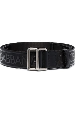 Dolce & Gabbana Logo print buckled belt