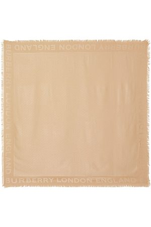 Burberry Schals - Monogram Silk Wool Jacquard Large Square Scarf