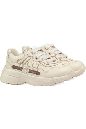 Gucci Jungen Sneakers - Toddler Gucci logo leather sneakers