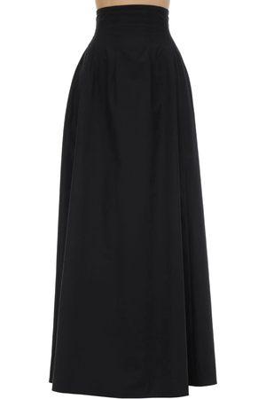 Khaite Cotton Poplin Maxi Skirt