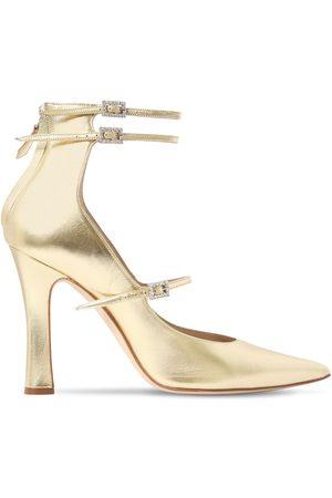 Alessandra Rich 105mm Hohe Mary Jane-pumps Aus Leder
