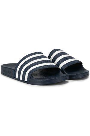 adidas TEEN Adilette striped slides