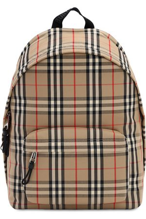 Burberry Herren Handtaschen - Jett Check Canvas Backpack