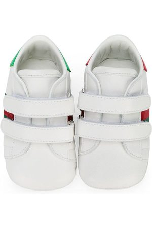 Gucci Baby leather sneakers with Web