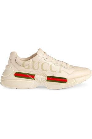 Gucci Rhyton fake logo leather sneakers