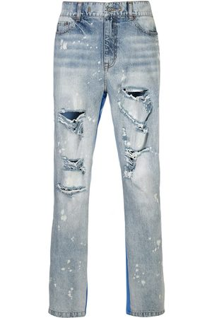 MOSTLY HEARD RARELY SEEN Herren Straight - Half and Half panelled jeans