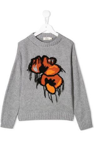 Le pandorine Floral knitted jumper