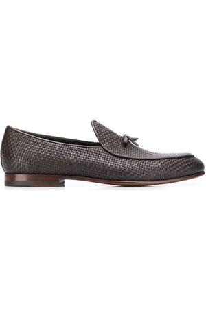 Scarosso Herren Halbschuhe - Henri Brown woven loafers