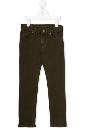 Emporio Armani Jungen Jeans - Mid-rise straight leg denim jeans
