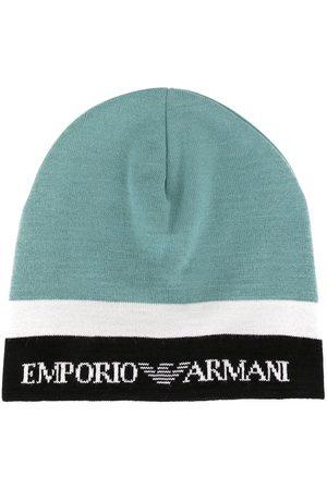 Emporio Armani Hüte - Colour block knit beanie