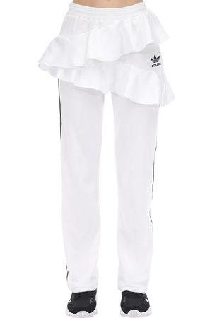 adidas Damen Hosen & Jeans - Ruffled Velvet Track Pants
