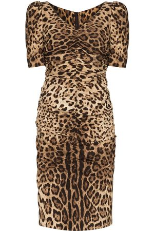 Dolce & Gabbana Damen Cocktail & Partykleider - Leopard print midi dress