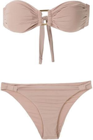AMIR SLAMA Bandeau bikini set