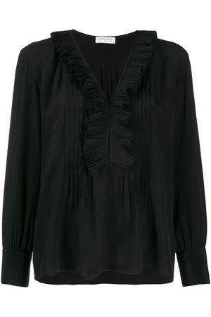 Sandro Long-sleeved ruffle blouse
