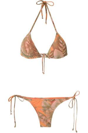 AMIR SLAMA Printed triangle bikini set