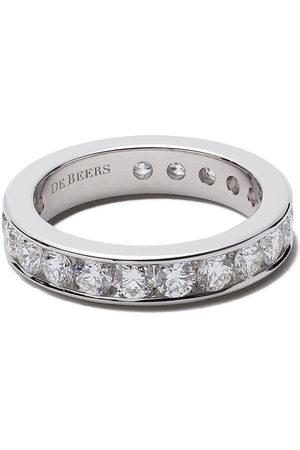 De Beers Damen Ringe - Platinum Channel Set Full diamond eternity band