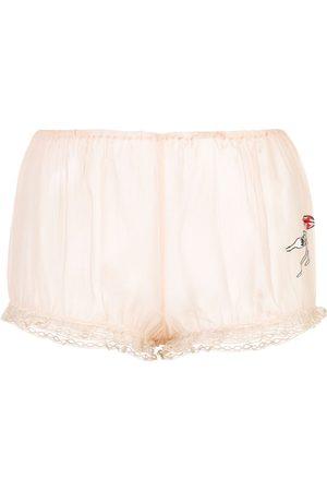 Kiki de Montparnasse X Caroline Vreeland pasta bloomer shorts