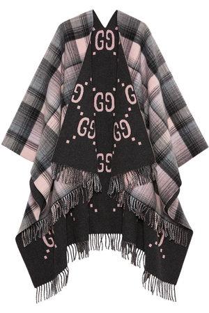 Gucci Reversible GG poncho coat