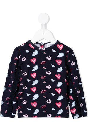 Emporio Armani Heart print jersey set