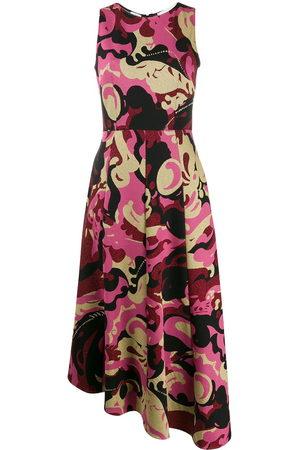 La DoubleJ Damen Freizeitkleider - Abstract print sleeveless midi dress