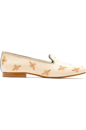 Blue Bird Bees straw loafers