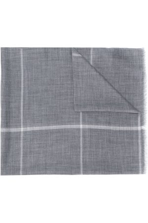 N.PEAL Checked print scarf