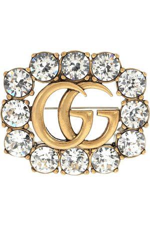 Gucci Brosche mit Kristallen