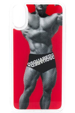 Dsquared2 Happy leaf logo boxers iPhoneX case