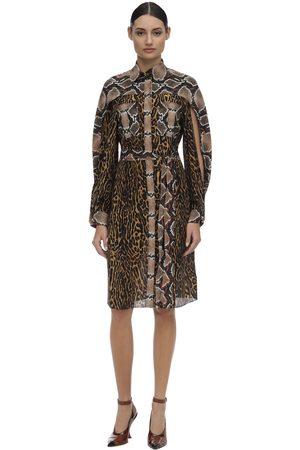 Burberry Damen Bedruckte Kleider - Printed Mulberry Silk Dress