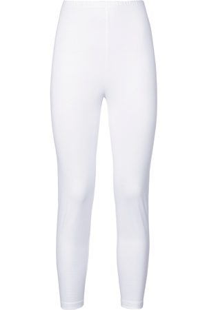 Green Cotton Leggings weiss