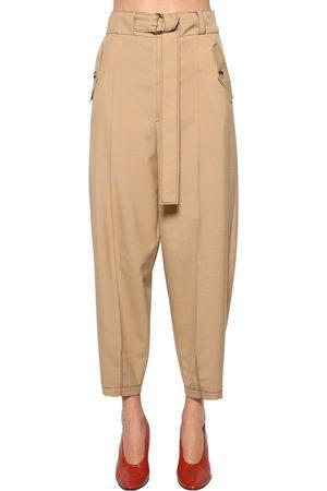 Marni Damen Cargohosen - Belted Wool Gabardine Cargo Pants