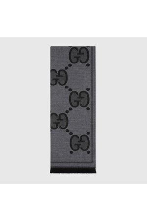Gucci Schal aus Wolljacquard mit GG Motiv
