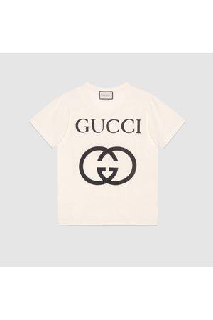 Gucci Übergroßes T-Shirt mit GG