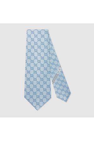 Gucci Herren Krawatten - Krawatte mit GG Muster aus Seide