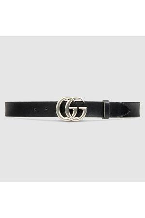 Gucci Ledergürtel mit Doppel G Schnalle
